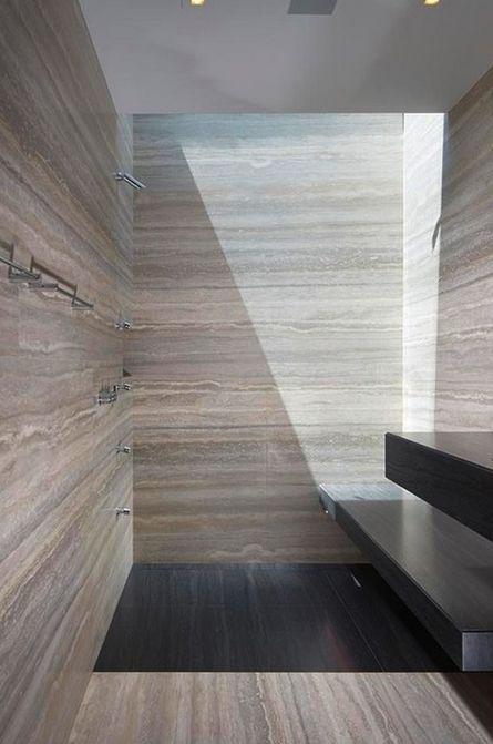 Travertin Vervangt Carrara Marmer In De Interieurinrichting